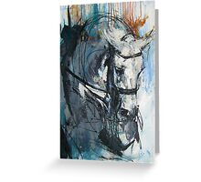 Dressage No.6 - Grey Stallion in Focus Greeting Card