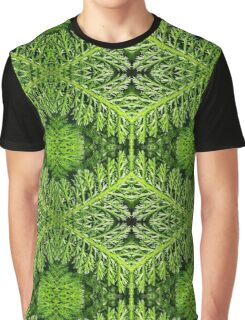 Fractal Fronds of Green Graphic T-Shirt