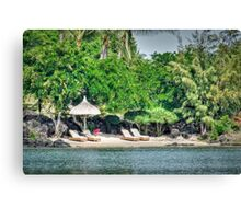 The Mauritius Collection - Lux Grand Gaube Main Beach (2) Canvas Print
