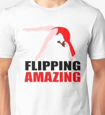 FLIPPING AMAZING RED GYMNASTICS Unisex T-Shirt