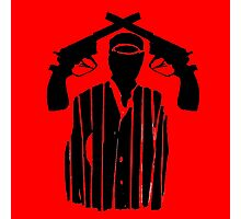 Guns on Head Photographic Print