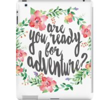 Watercolor Flower Wreath Ready For Adventure iPad Case/Skin
