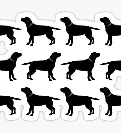 Black Labradors Sticker