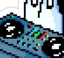 Napstablook DJ Pixel Arts Coloured Sticker