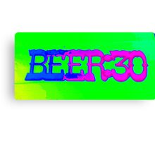 beer 30 sign Canvas Print