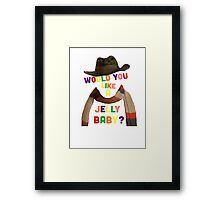 Doctor Who - Would you like a jelly baby? - 4th Doctor Framed Print
