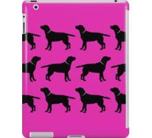 Black Labrador - Hot Pink iPad Case/Skin