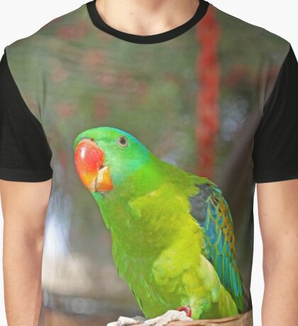 Philippine Blue Nape Parrot Graphic T-Shirt