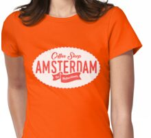Coffee Shop Amsterdam Logo Womens Fitted T-Shirt
