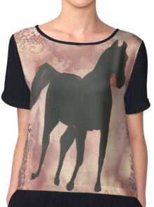 Horse Silhouette #15 Chiffon Top