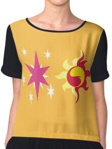 My little Pony - Sunset Shimmer + Twilight Sparkle Cutie Mark Chiffon Top