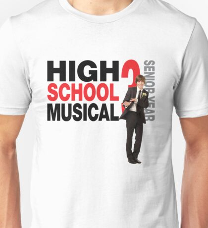 High school musical Troy Bolton hsm 3 Unisex T-Shirt