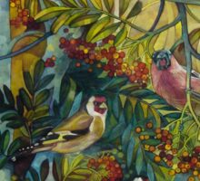 """Goldfinches in the sorb-tree """"sorbus aucuparia """" Sticker"""