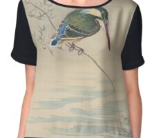 Kingfisher, Ohara Koson Chiffon Top