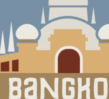 Bangkok Thailand Retro Badge Sticker