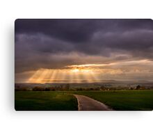 Sunset over Dalheim Canvas Print