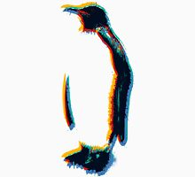 colorsplashed penguin print Men's Baseball ¾ T-Shirt