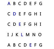 adele alphabet Photographic Print