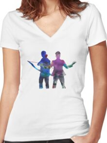 Malec  Women's Fitted V-Neck T-Shirt