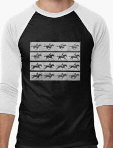 Muybridge Horse Photographic Horse Motion Study Men's Baseball ¾ T-Shirt