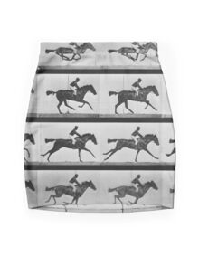 Muybridge Horse Photographic Horse Motion Study Mini Skirt