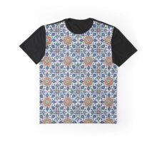Turkish Iznik Tile Pattern Graphic T-Shirt