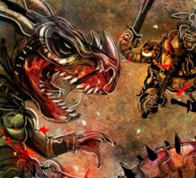 Manstodon versus the Swamp Tyrant Sticker