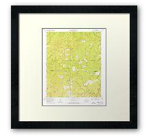 USGS TOPO Map Alabama AL Grayson 304032 1960 24000 Framed Print
