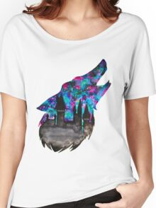 Double Exposure Harry Potter Werewolf Hogwarts Silhouette Women's Relaxed Fit T-Shirt