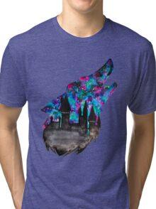 Double Exposure Harry Potter Werewolf Hogwarts Silhouette Tri-blend T-Shirt