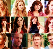 One Tree Hill Cast Through The Years  Sticker
