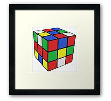 Rubik Cube Framed Print