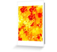 Hibiscus Impressionist Series - Yellow & Red Greeting Card