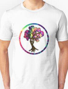 Hippie Peace Tree in Psychedelic Circle T-Shirt