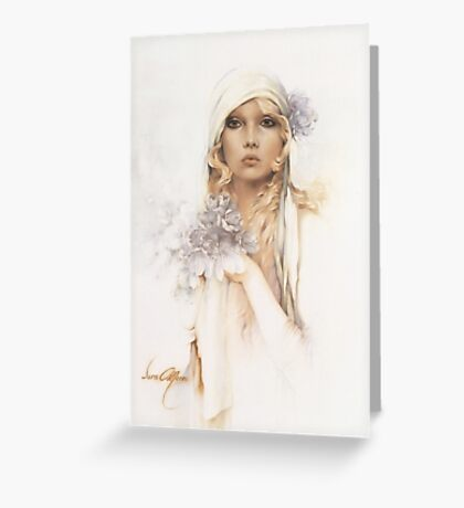 """Sara"" Portrait in Oils Greeting Card"