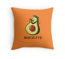 Avocastro Throw Pillow