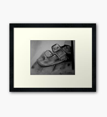 Sandals and Sunglasses Framed Print