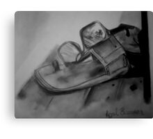 Sandals and Sunglasses Canvas Print