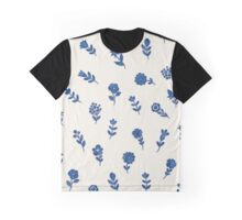 Cute Little China Blue Flowers Graphic T-Shirt
