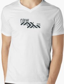 Raw Trax Logo Mens V-Neck T-Shirt
