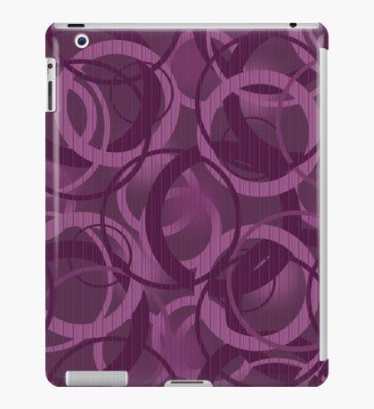 Seamless pattern with circles purple iPad Case/Skin