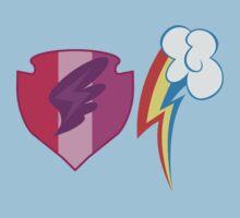 My little Pony - Scootaloo + Rainbow Dash Cutie Mark Baby Tee