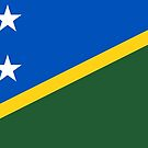 Solomon Islands Flag Stickers by Mark Podger