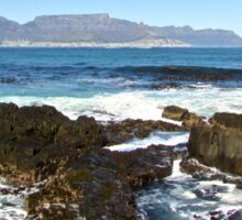 Table Mountain from Robben Island Sticker
