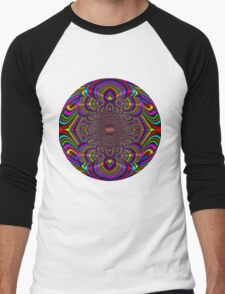 Silk Mandala II - Peace Multi Men's Baseball ¾ T-Shirt