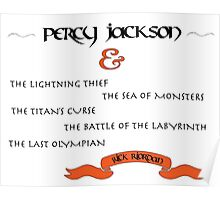 Percy Jackson book titles Poster