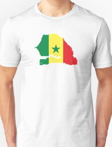 Flag Map of Senegal  T-Shirt