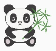 Funny cross-stitch panda Kids Tee
