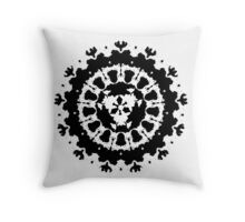 inkblot Black Ink Art Personality Psychology Klecksograph Spots Paint Blotches  Throw Pillow