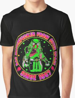 Bad Mofo from Outer Space Colour Graphic T-Shirt